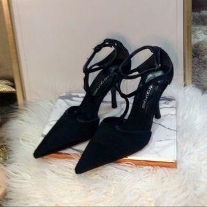 Sergio Rossi T-strap stiletto heels